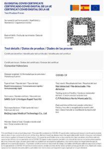 Certificado Covid Digital